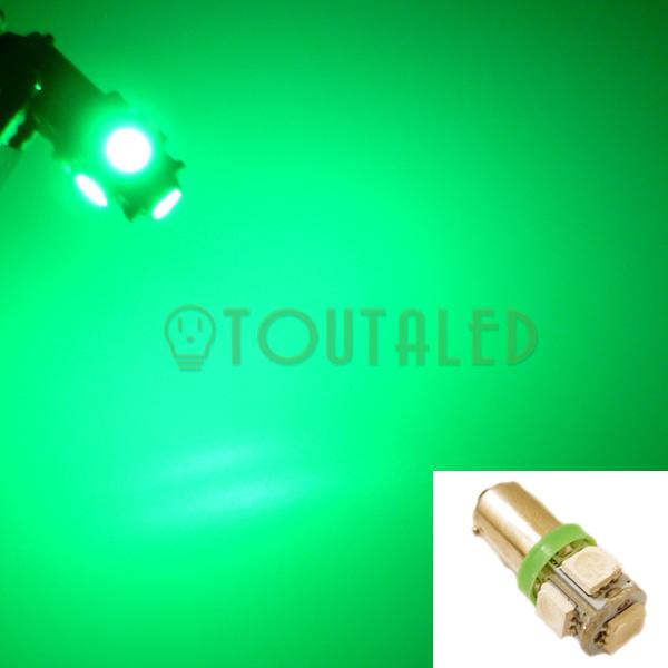 ampoule 12v ba9s 5 led 5050 vert toutaled eclairage led t l phonie audio vid o bijoux beaut. Black Bedroom Furniture Sets. Home Design Ideas