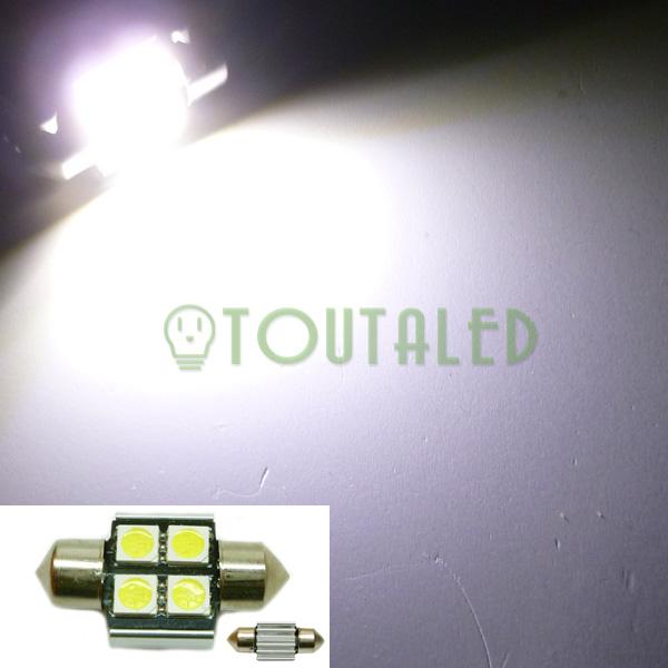 ampoule 12v navette c3w 31mm 4 led 5050 anti erreur toutaled eclairage led t l phonie audio. Black Bedroom Furniture Sets. Home Design Ideas