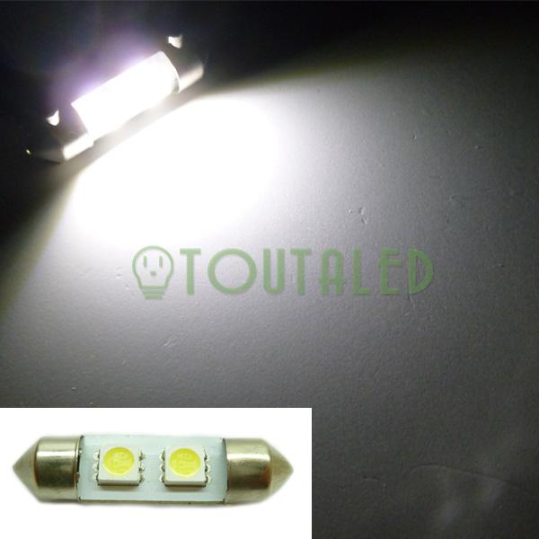 ampoule lampe navette c5w 36mm 12v 2 led 5050 blanc xenon plaque plafonnier ebay. Black Bedroom Furniture Sets. Home Design Ideas