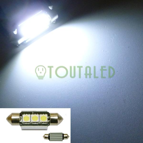 ampoule 12v navette c5w 36mm 3 led 5050 anti erreur toutaled eclairage led t l phonie audio. Black Bedroom Furniture Sets. Home Design Ideas