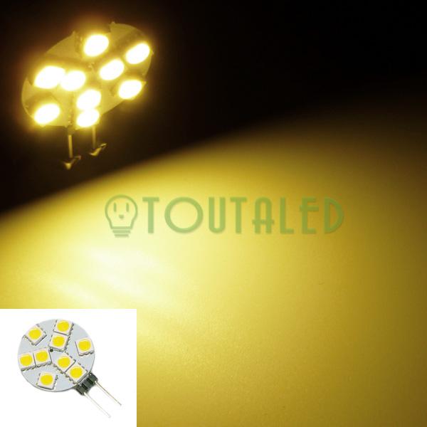 ampoule 12v g4 9 led 5050 blanc chaud toutaled eclairage led t l phonie audio vid o bijoux. Black Bedroom Furniture Sets. Home Design Ideas