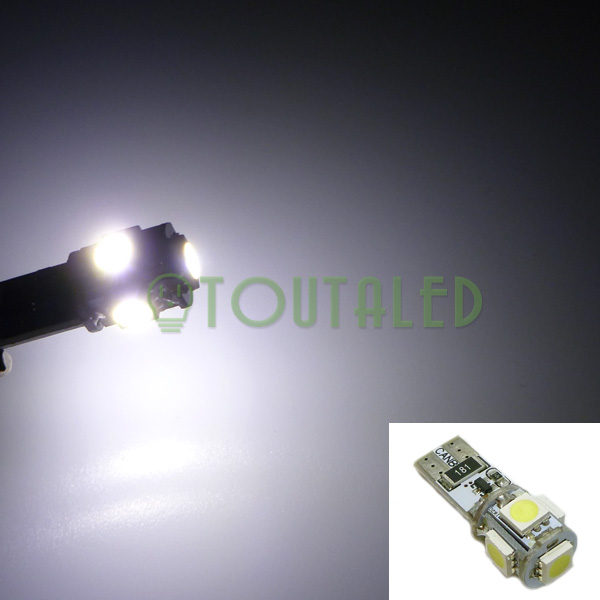 ampoule 12v t10 w5w 5 led 5050 blanc froid anti erreur toutaled eclairage led t l phonie. Black Bedroom Furniture Sets. Home Design Ideas