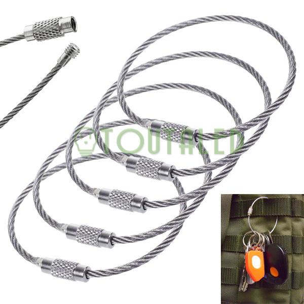 5x cables attache porte cl s acier inox toutaled for Cables pc galeria jardin